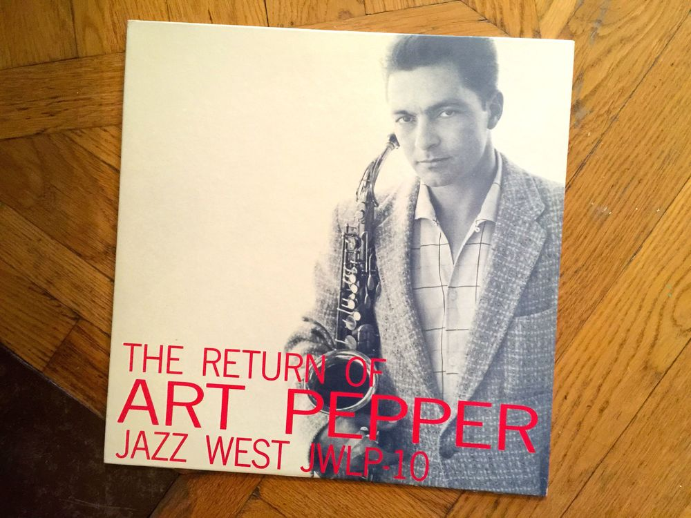 Art Pepper on Jazz:West, a nice addition to any collection.