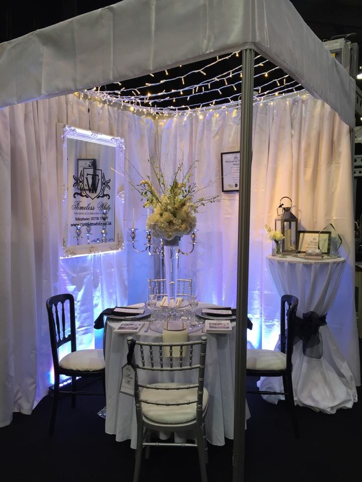Timeless White Wedding Planning at Your Wedding Exhibition, Aberdeen, Scotland.