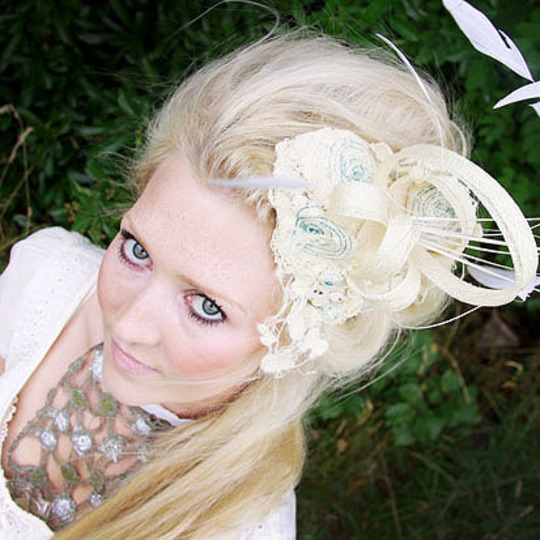 Kate Slater beautiful handmade lace fascinators and accessories are now available at My little Wedding Shop!
