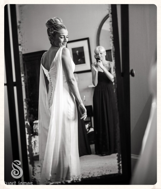made to measure wedding dress image credit Stuart James photographer