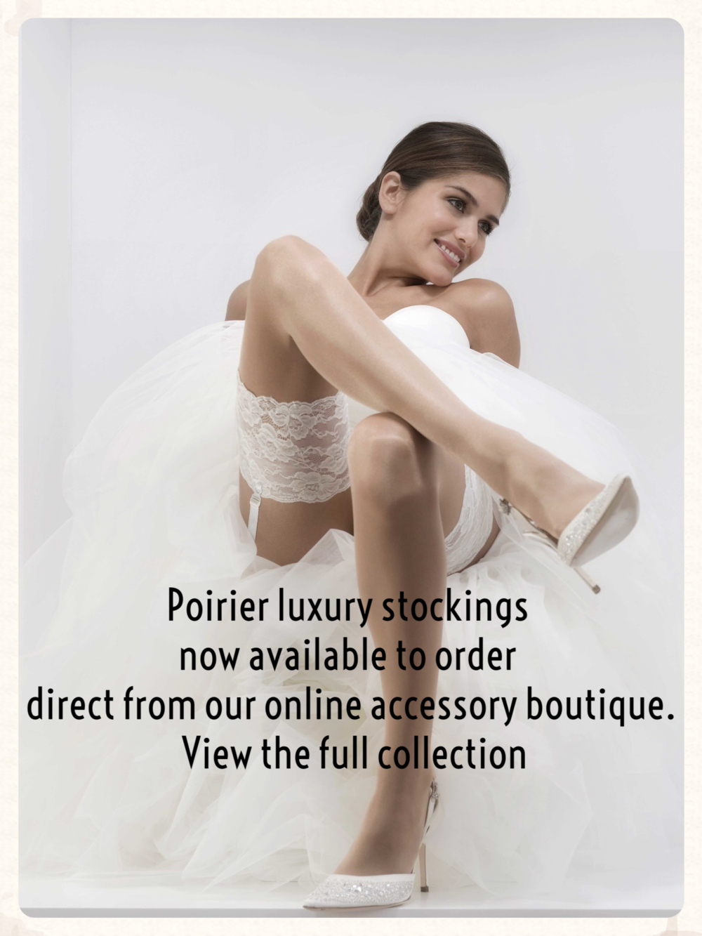 Poirier luxury stockings now available to order direct from our online accessory boutique. View the full collection