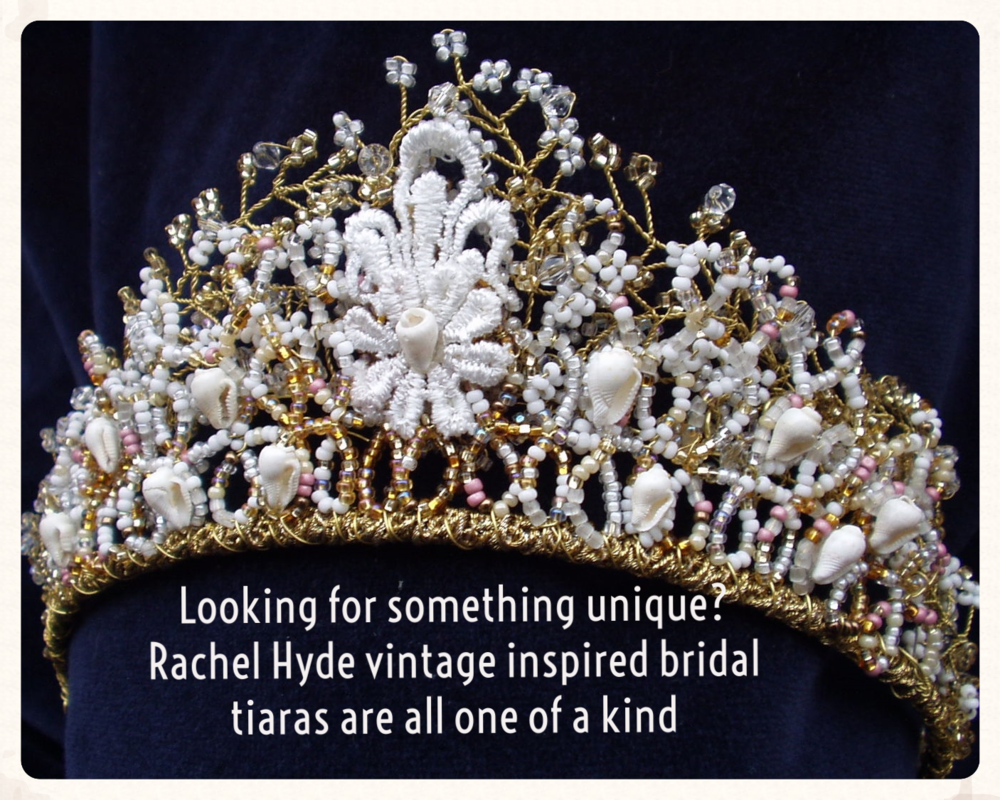 Looking for something unique? Rachel Hyde vintage inspired bridal tiaras are all one of a kind