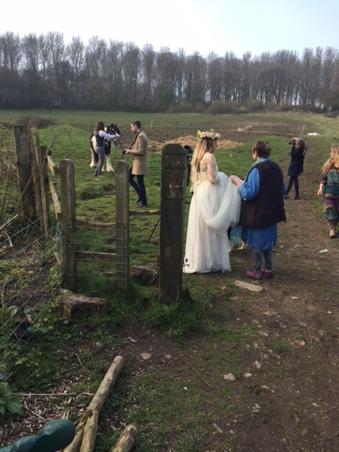 And here is Tor in the finished gown...Our models for the day were the fab Tor & Jack, super fun and perfect for the day.....and yes, we were joined by a horse!