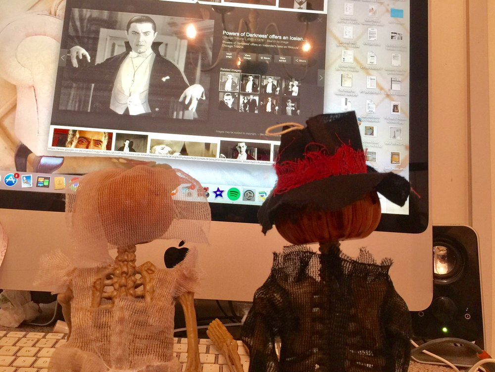 Mr & Mrs Pumpkin have been watching old movies to get in the Halloween mood and reminisce over their holiday.