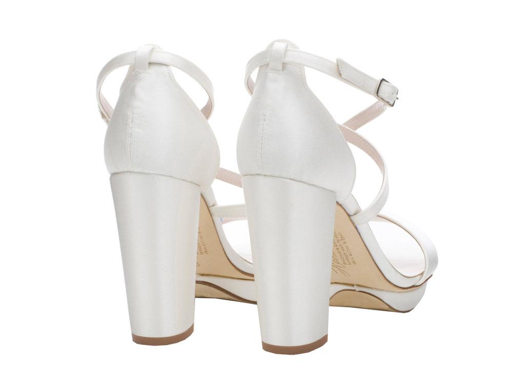 2034e2abcf5 Arabella  Block Heel in Ivory by Harriet Wilde — My little Wedding Shop