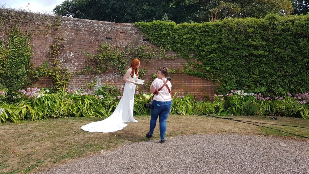 Ash & Steph get ready to shoot in the grounds of Davenport House. Steph has such a natural and fun rapport,  it was such a joy to see her at work!