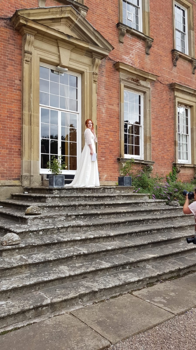 Ash posing on the beautiful stone steps at the back of Davenport House,an ideal photo opportunity. Ash has such natural grace that she makes it very easy to get the perfect shot!