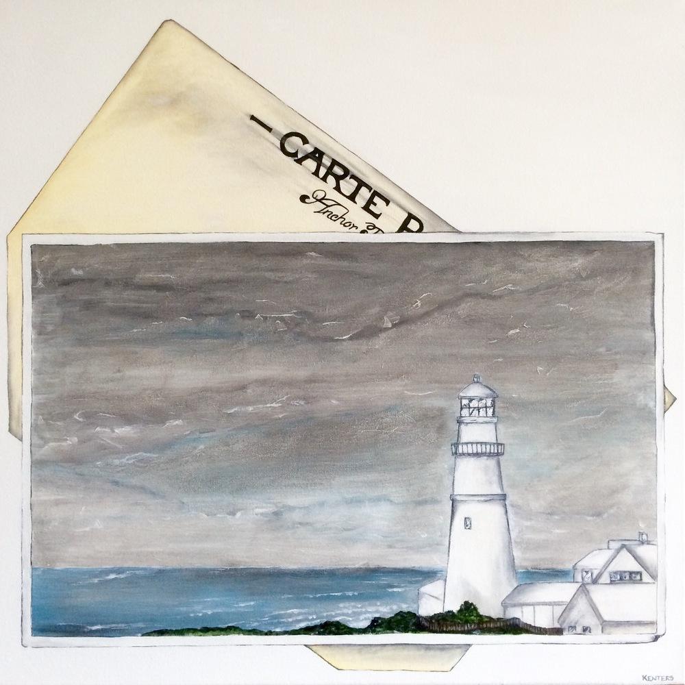 Portland Maine - Lighthouse & Turbulent Skies