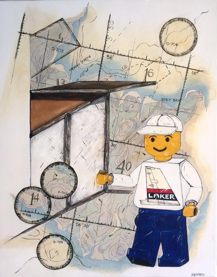 Laker Lego Man Goes Flying