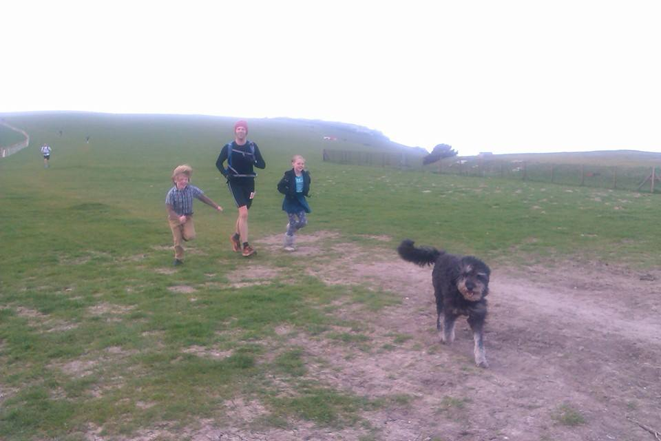 Aelfie, me, Aela and Stanlie at Firle