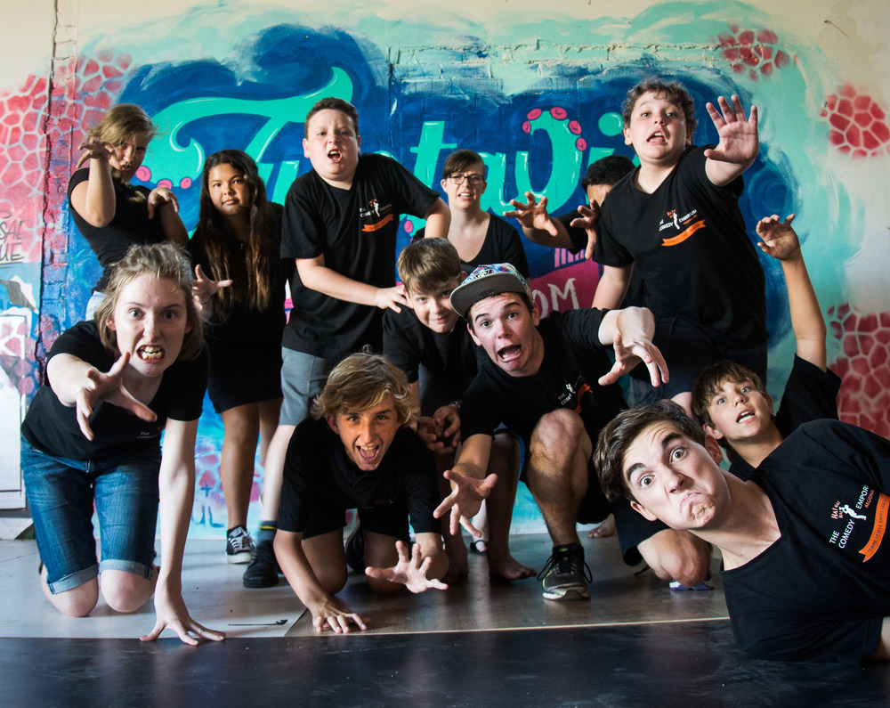 Fellow troupe of young Improvisers from Sister Club in Geraldton.