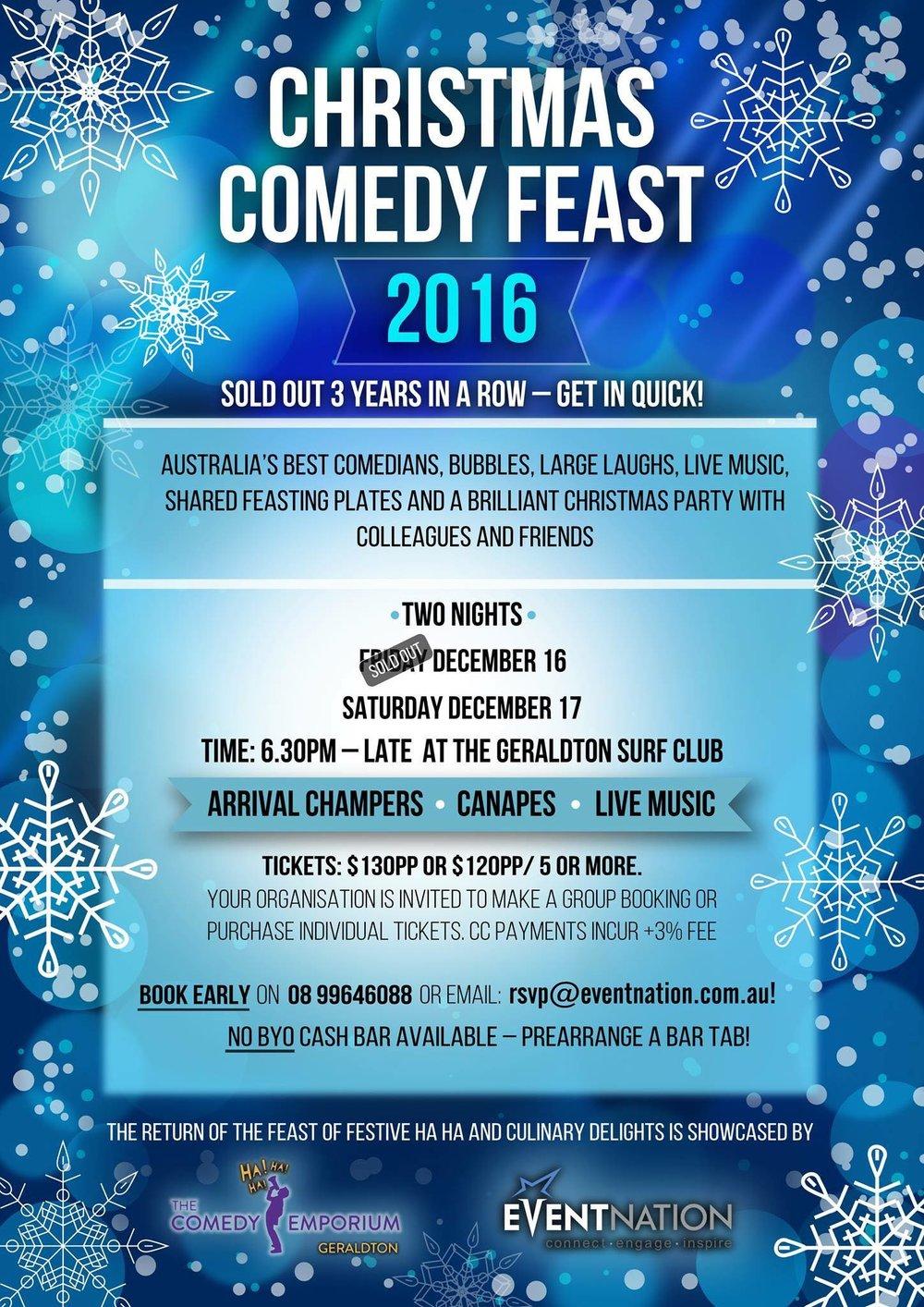 Christmas Comedy Feast Geraldton