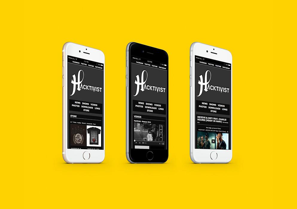 Hactivist Website Design