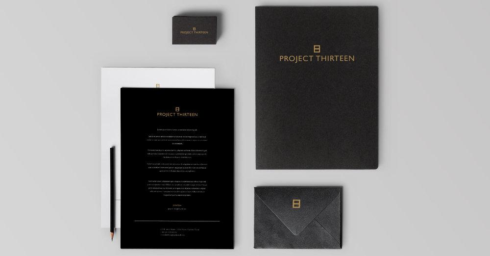 Project Thirteen Branding