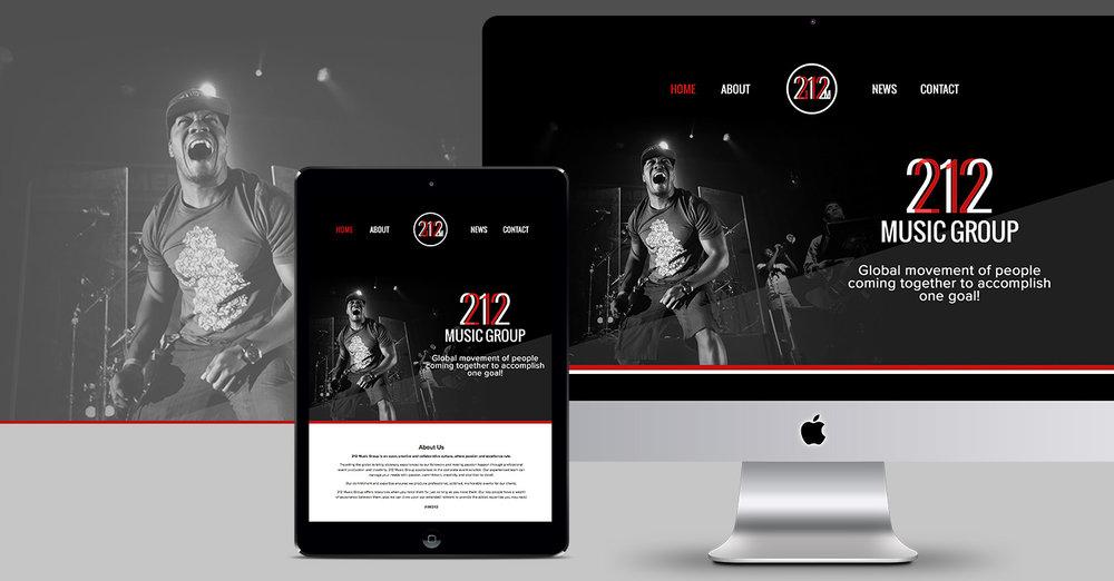212 Music Group Website