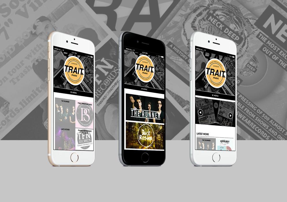 Trait Music Website Design