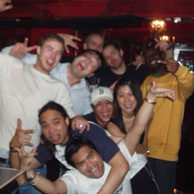 Don't usually do all that Throwback Thursday biz but I thought I'd make an exception - 10 years ago after an epic date on our (all vinyl) Hong Kong tour w/ @djmatman @idundesign, Ben Ford and our host Simon. And an equally epic bottle of random spirits with a dead scorpion in it 💯 #tbt #hongkong #realdjs #crazy #fun