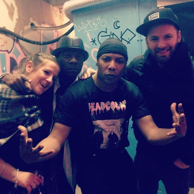 Just found this pic on my phone basement party with Donald D & Dynamax yo ✌️#hiphop #hiphopculture #york #rhymesyndicate #zulunation