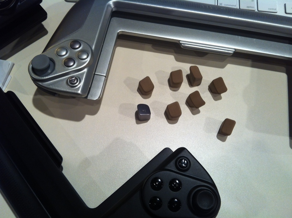 Painted foam color models and CNC top button for ergonomic study