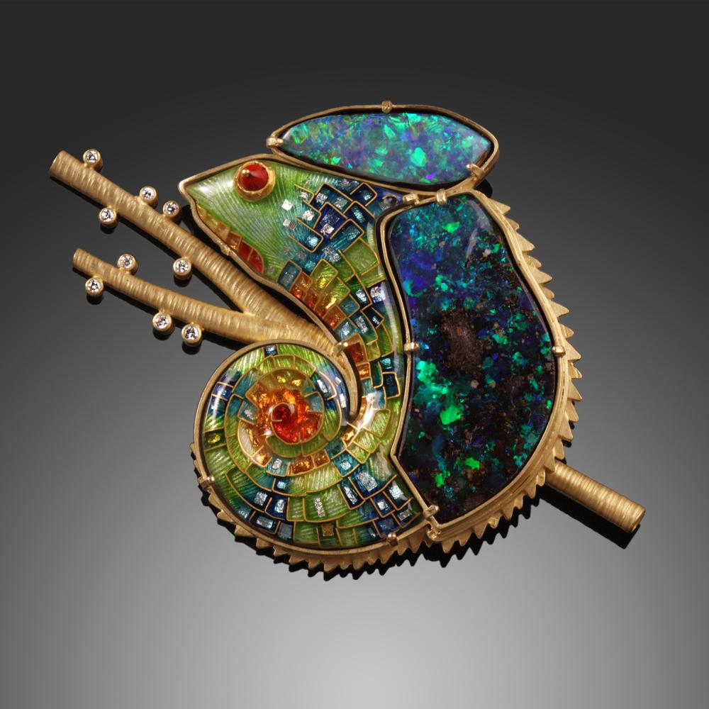 Opal Chameleon Pin/Pendant