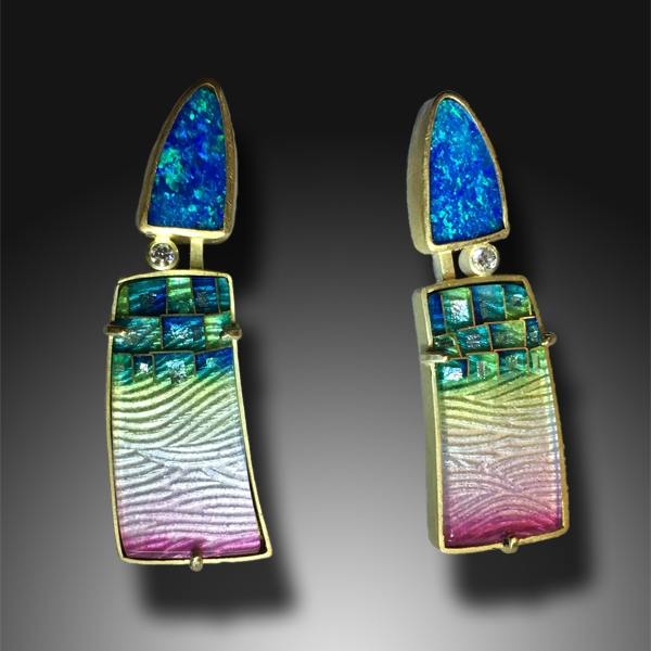 Opal Mosaic Earrings #3