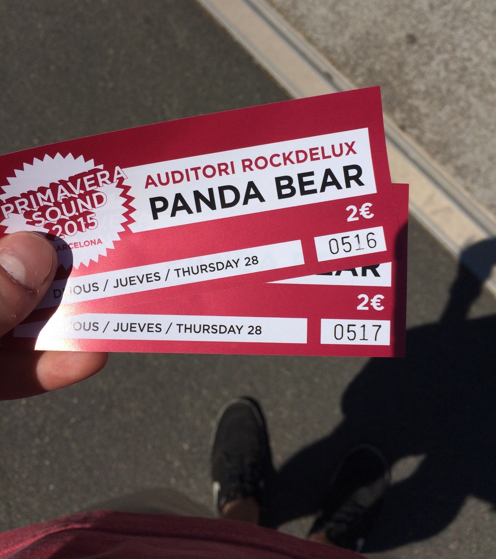 The fabled Panda Bear tickets...