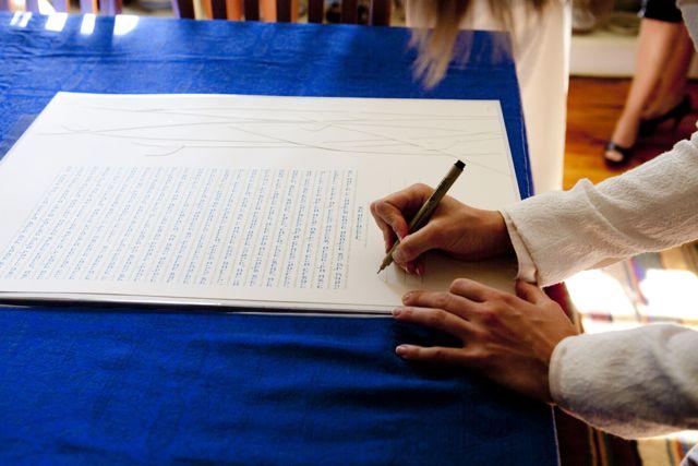"Signing of ""Garden"" Ketubah"