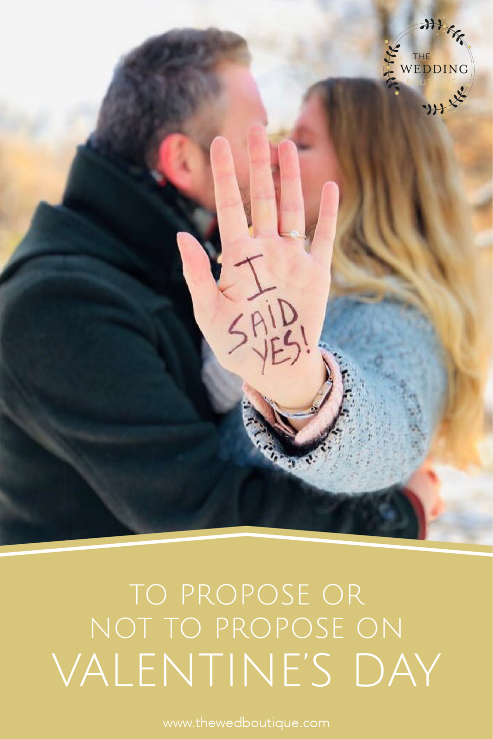 To propose or not to propose on Valentine's Day • The Wedding Boutique • Structure your wedding planning • www.thewedboutique.com