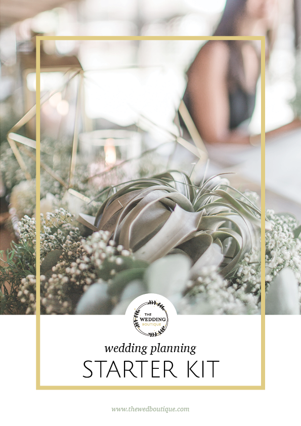 Wedding Planning Starter Kit • The Wedding Boutique • Structure your Wedding Planning and Organise your Wedding • www.thewedboutique.com