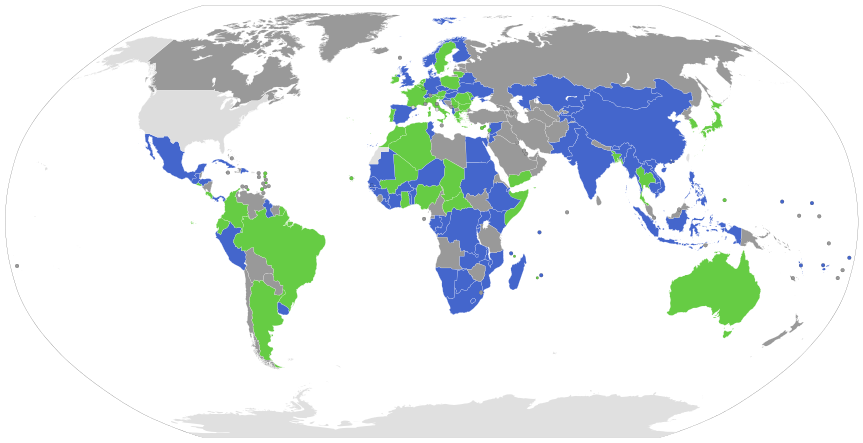 Map showing parties to the Nagoya Protocol and Biological Diversity Convention. Image by L. Tak, CC BY-SA 4.0.