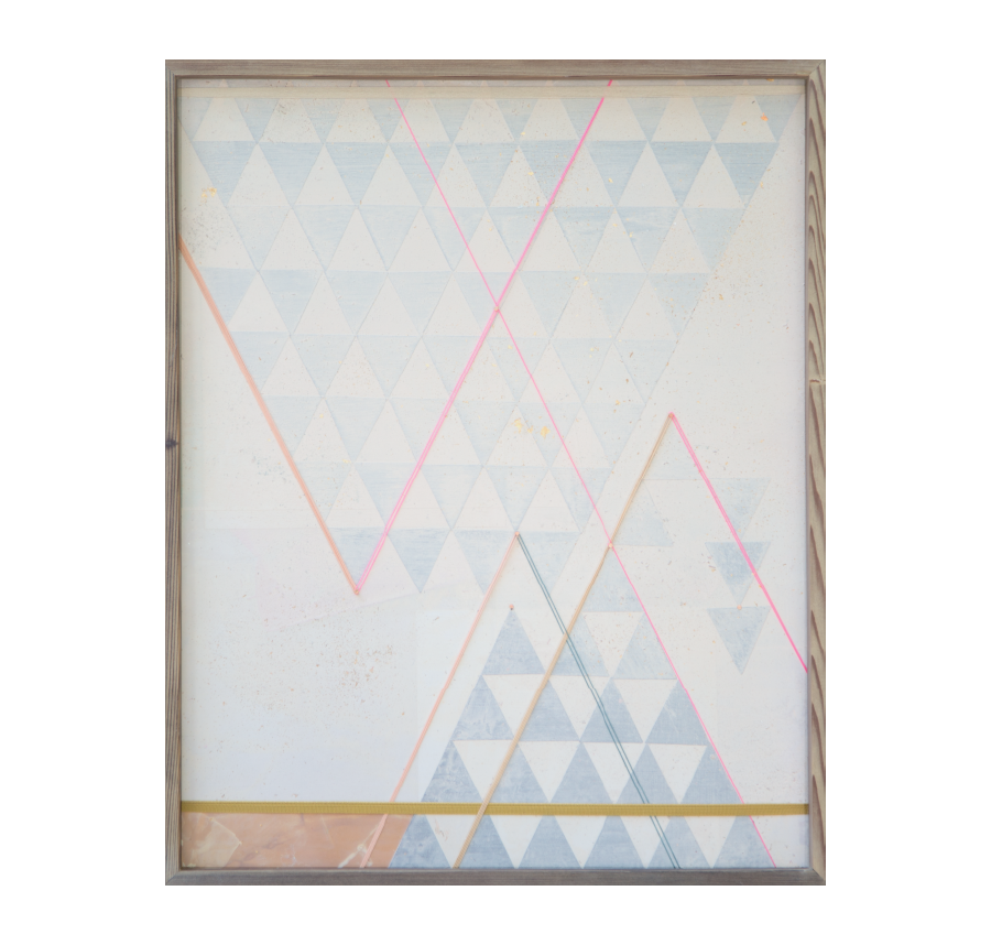 Paper Airplane, 2015   Acrylic And Mixed Media On Wood  19x24 inches // SOLD