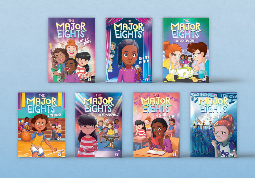 The Major Eights Series - Designed and Art Directed by Steph StilwellSeries Logo Design by David DeWittIllustrated by Émilie PépinLittle Bee Books