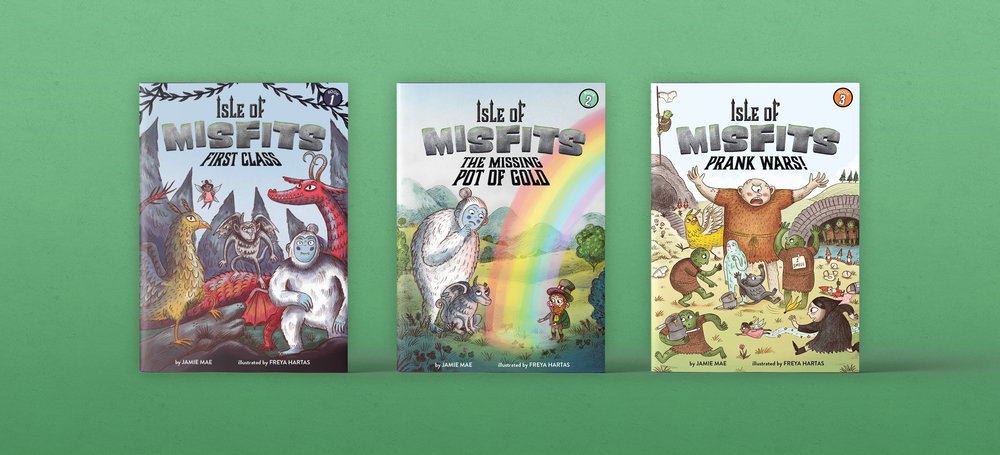 Isle of Misfits Series - Designed and Art Directed by Steph StilwellIllustrated by Freya HartasLittle Bee Books