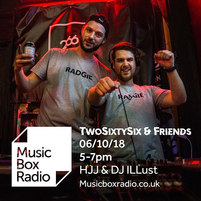 Live tonight on @musicboxradiouk 5-7pm with @hjjallday and @djillust exclusive new music and underground gems! #radgieradio
