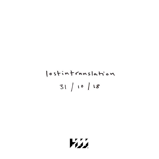 New @hjjallday this Wednesday! Available for pre-order on Apple Music now #Lostintranslation