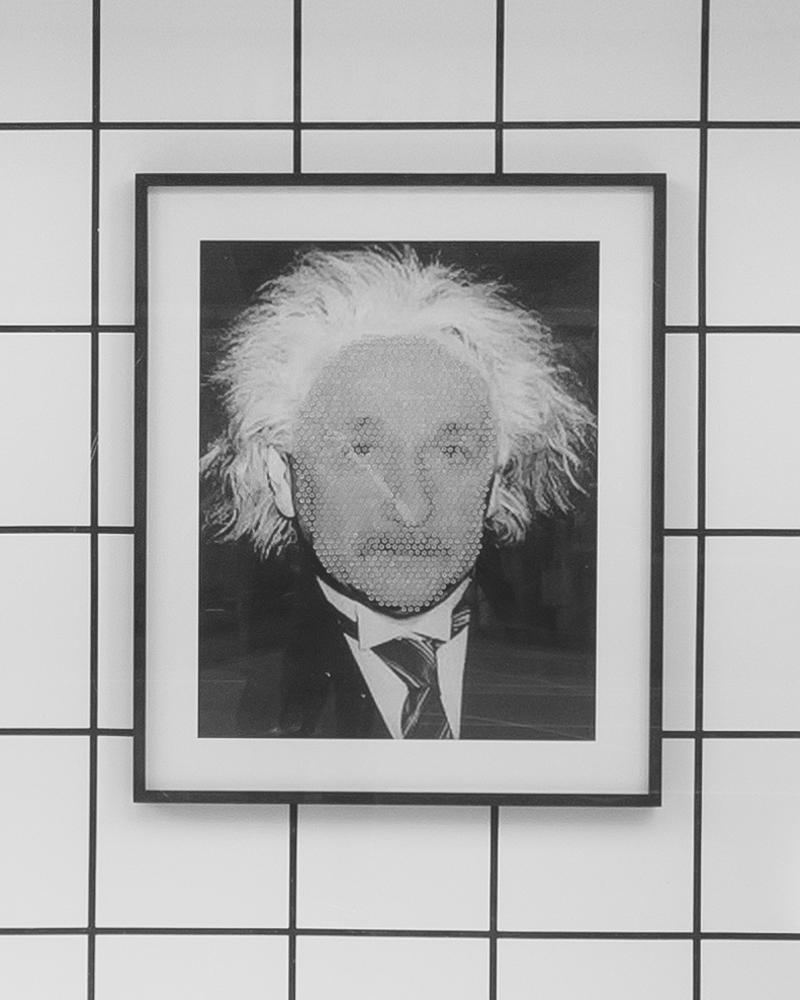 """Einstein (Pinhead), 36"""" x 30"""", 2013"""