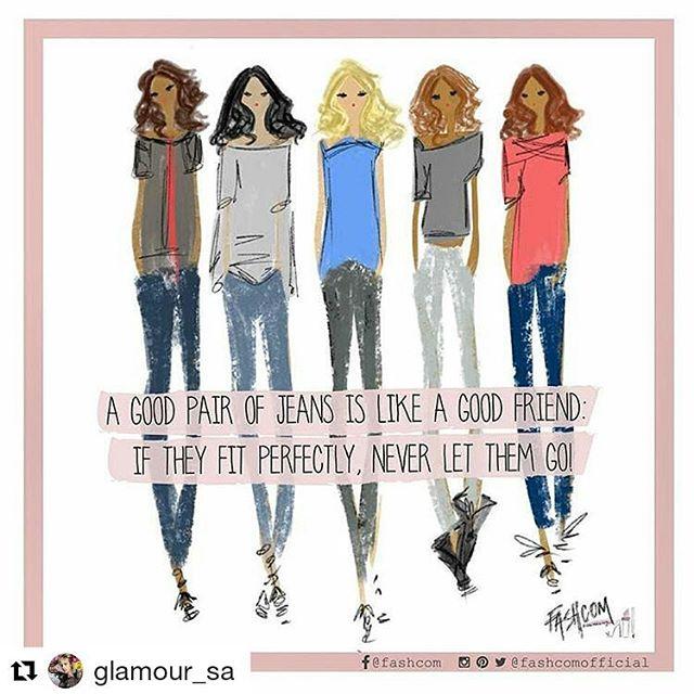 Un buen par de jean es como un buen amigo, si te sostiene, no lo dejes ir! 👖• Nuevo comic para @glamour_sa •  #GLAMstyle #GLAMfashion #FashionFriday #fashion #jean #denim #glamour #moda #fashcom