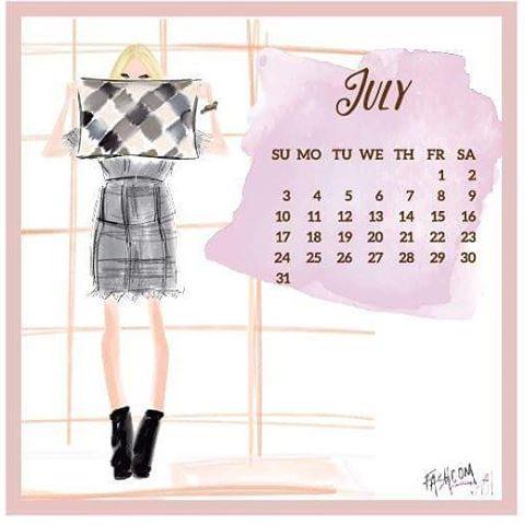 Bienvenido julio!! Nuestro calendario ya llegó!! Bajatelo en nuestra página de Facebook • #love #fashion #moda #calendar #fashcom #girls #welcomejuly💕