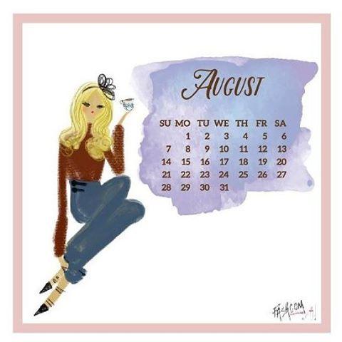 Llegó agosto! Llego el calendario de @fashcomofficial • #fashion #love #illustration #comic #calendar #moda #historia #agosto #welcomeaugust❤
