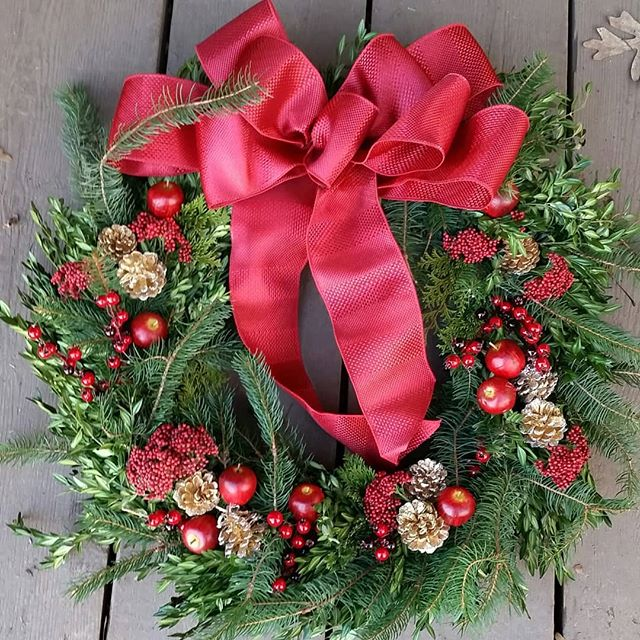 Get your wreath from @theneighborhoodfarm this Sunday @ our holiday market along w/ veggies, eggs, cheese, treats, fish, coffee, tamales, cornbread, natural soaps, jewelery, accessories, art & more!  12/2 &12/9 10AM-2PM Spontaneous Celebrations  45 Danforth Street, JP  @theneighborhoodfarm  @the_food_project  @elcolombianocoffee  @mrtamole  #foxborocheese @thirdcliffbakery @thecornybreadco  @redsbest  @hapiafricangourmet  @buttahbeauty