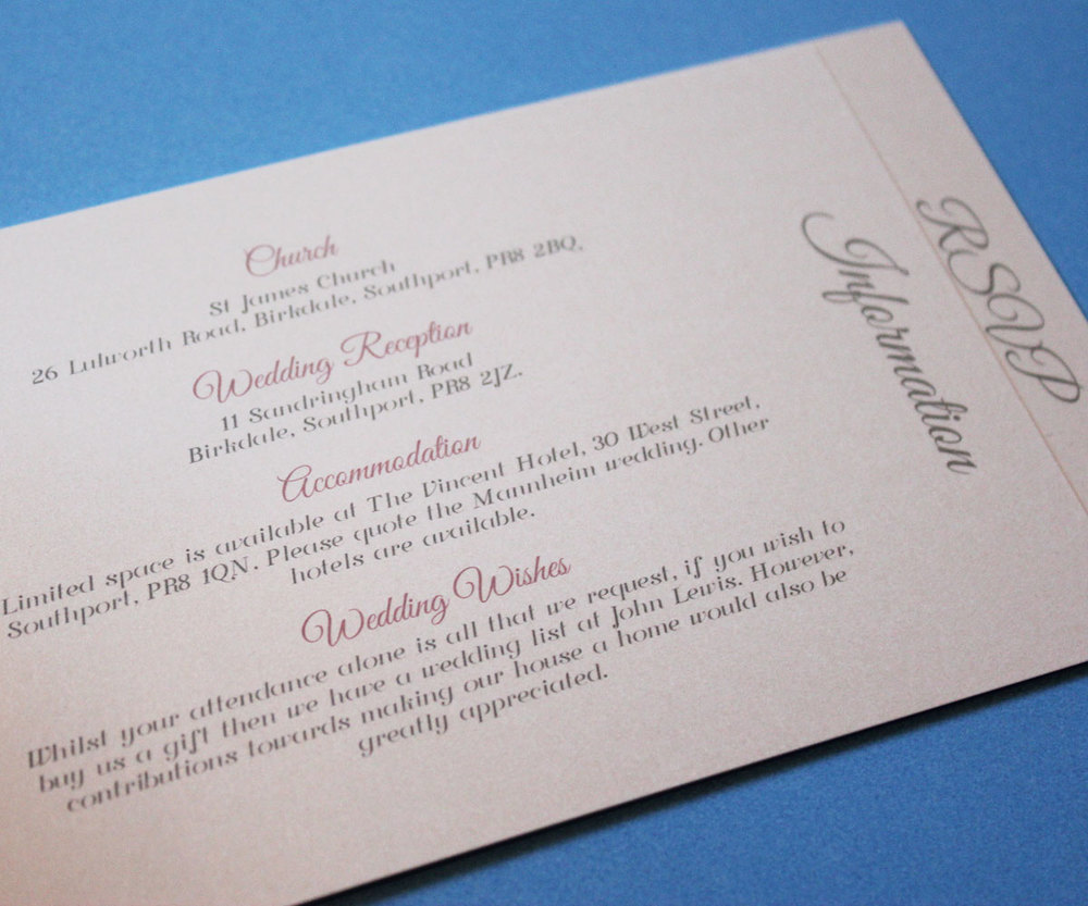 Handmade wedding invitations in liverpool the paper doll the laura and david stopboris Images