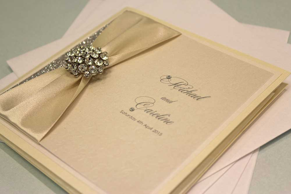 Caroline and Michael Handmade Wedding Invitations