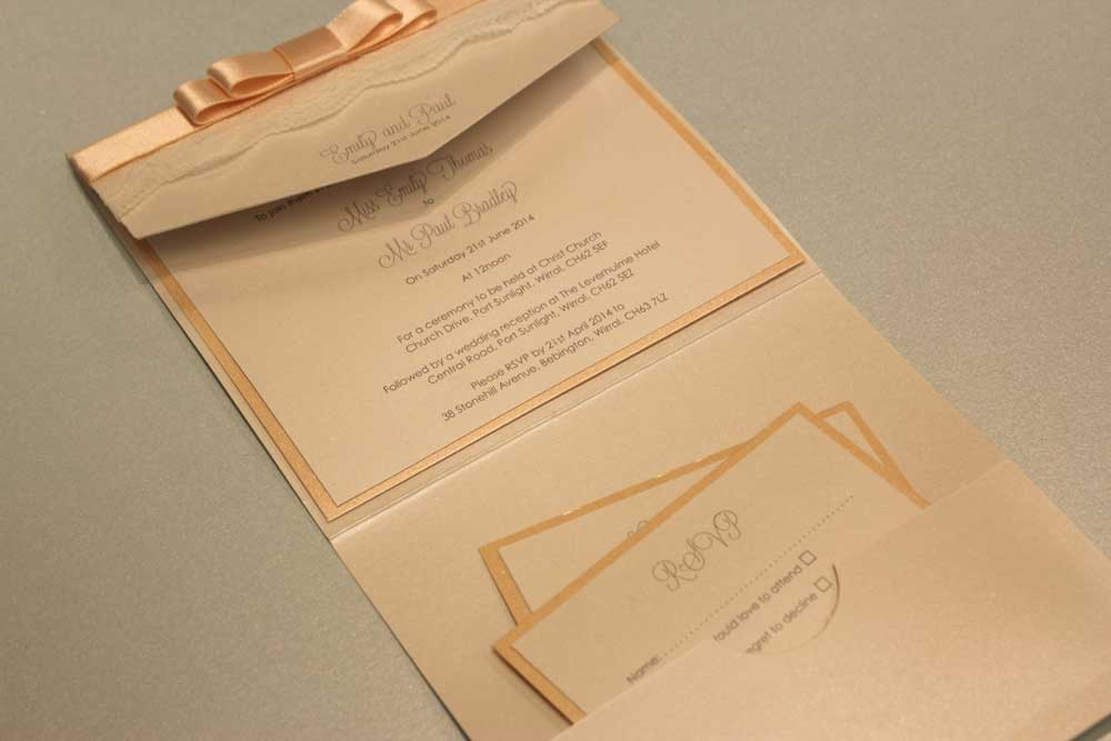 Emily and Paul - Handmade Wedding Invitations