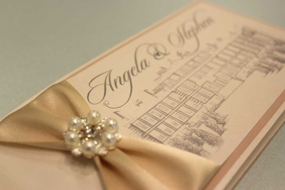 Angela and Stephen - Handmade Wedding Invitations