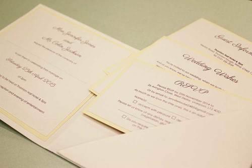Handmade wedding invitations the paper doll jennifer colin 3g stopboris Images
