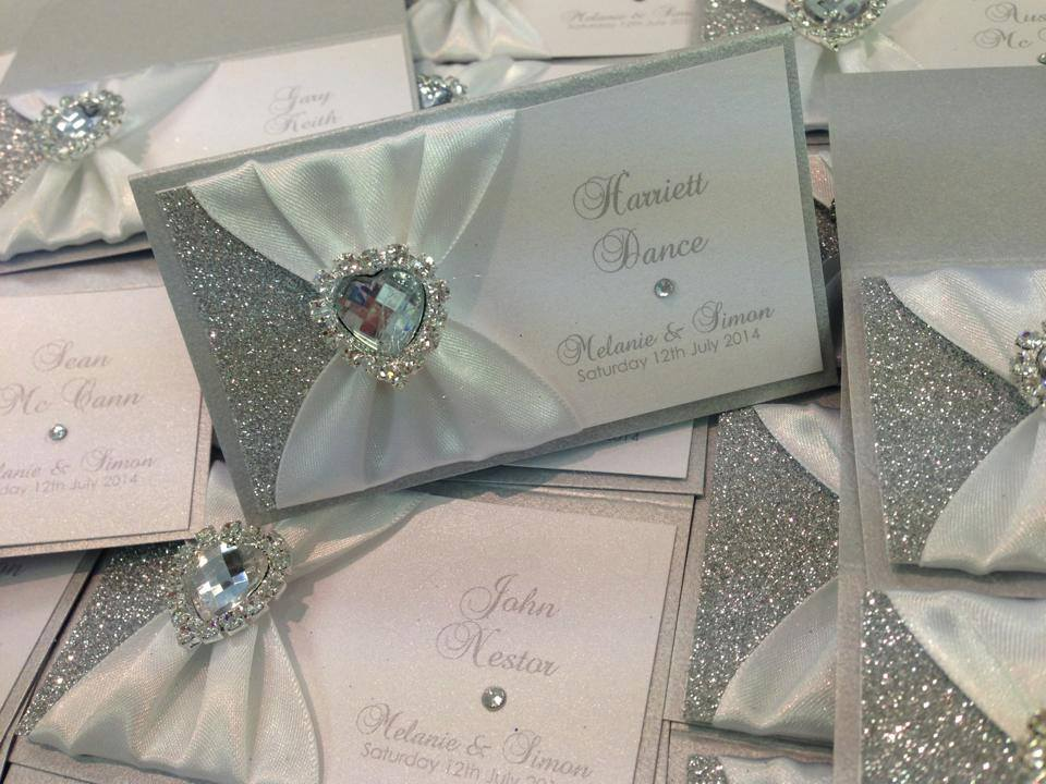 feb 8 name place cards silver glitter heart sarah cluney comment