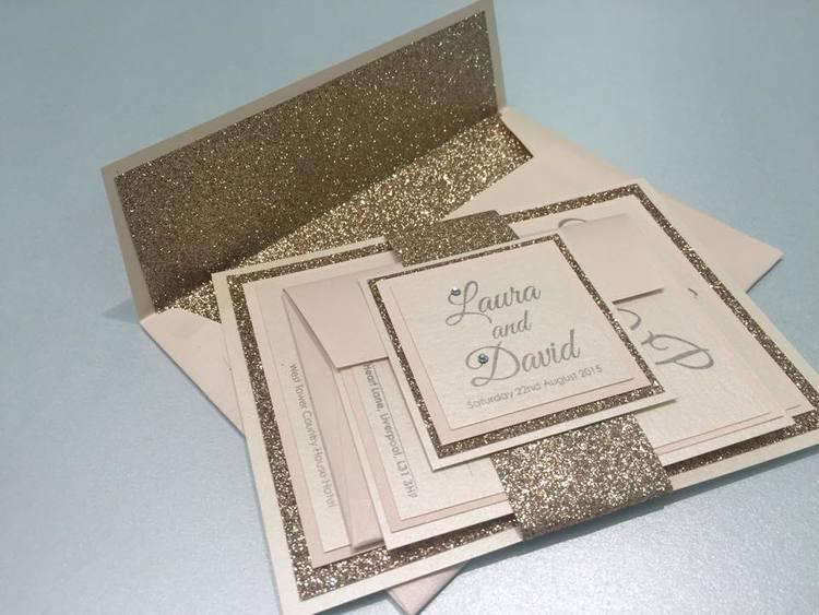 Handmade wedding invitations the paper doll laura david stopboris Choice Image