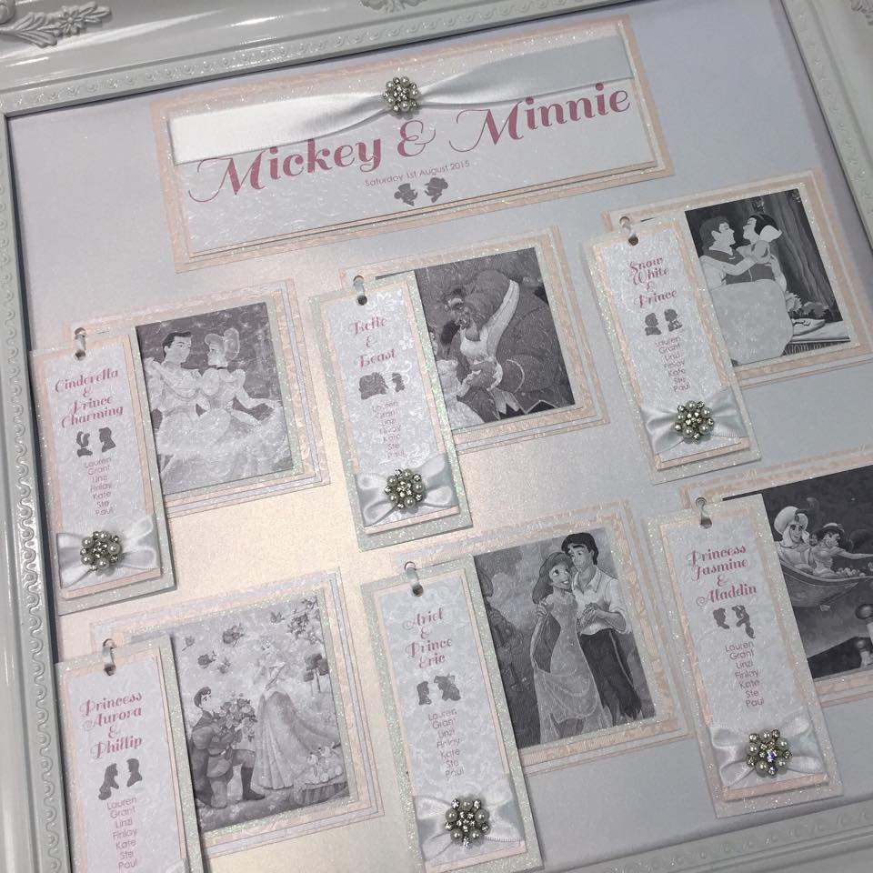Disney Table Plan - On the Day Wedding Stationery