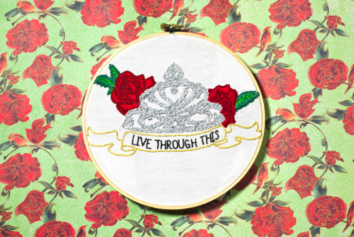 """Live Through This"" by Mackenzie Mollo, 2011. (one of the first ones I ever made! and before I figured out how banners actually work. Please do not remove my artist's credit!)"