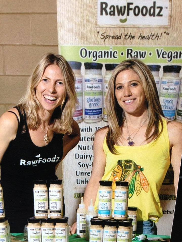 Sher Kopman (left) & Michelle Cass (right), founders of RawFoodz.